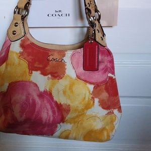 Coach Ashley  Multicolor Floral  Hobo Handbag